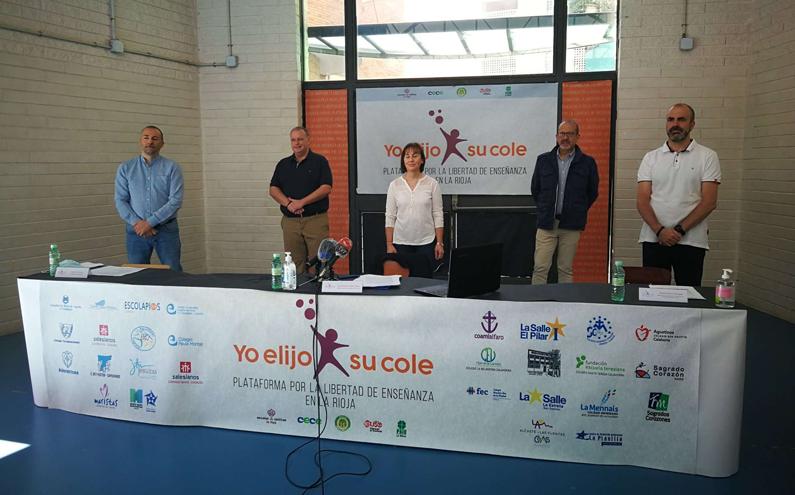 La Plataforma por la Libertad de Enseñanza en La Rioja desmonta con datos oficiales las acusaciones vertidas por el consejero de Educación contra la educación concertada
